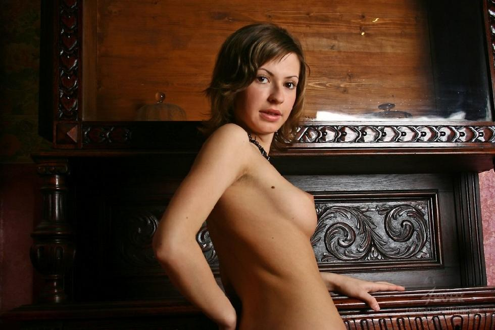 Lovely Dasha is posing naked on an antique furniture - 4