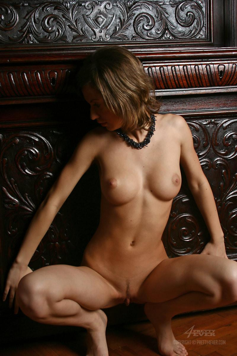 Lovely Dasha is posing naked on an antique furniture - 6