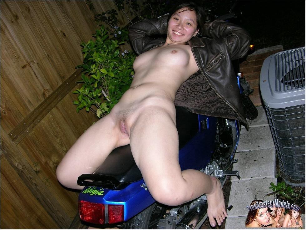 Amateur Selina is riding on her bike - 12