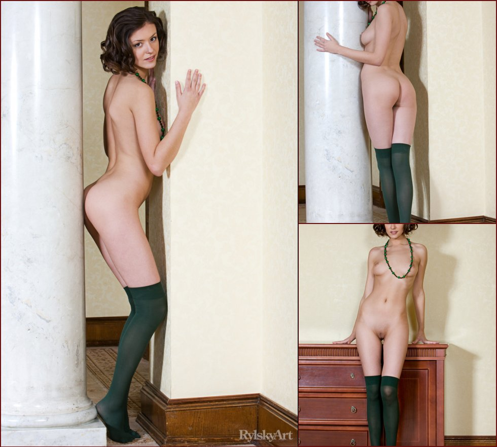 Beautiful Rita in green stockings - 46