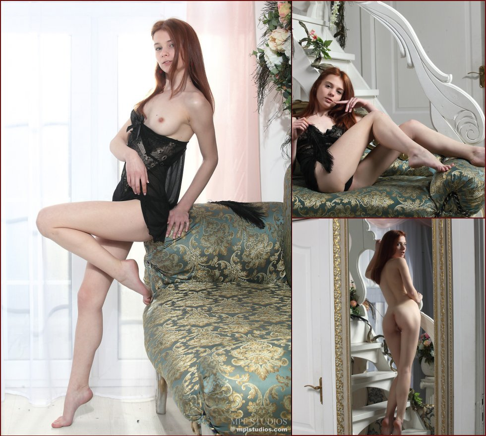 Young Lily is showing her charms in an elegant house - 39