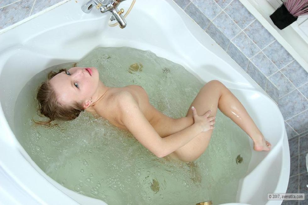 Naked Katya is taking a bath - 14