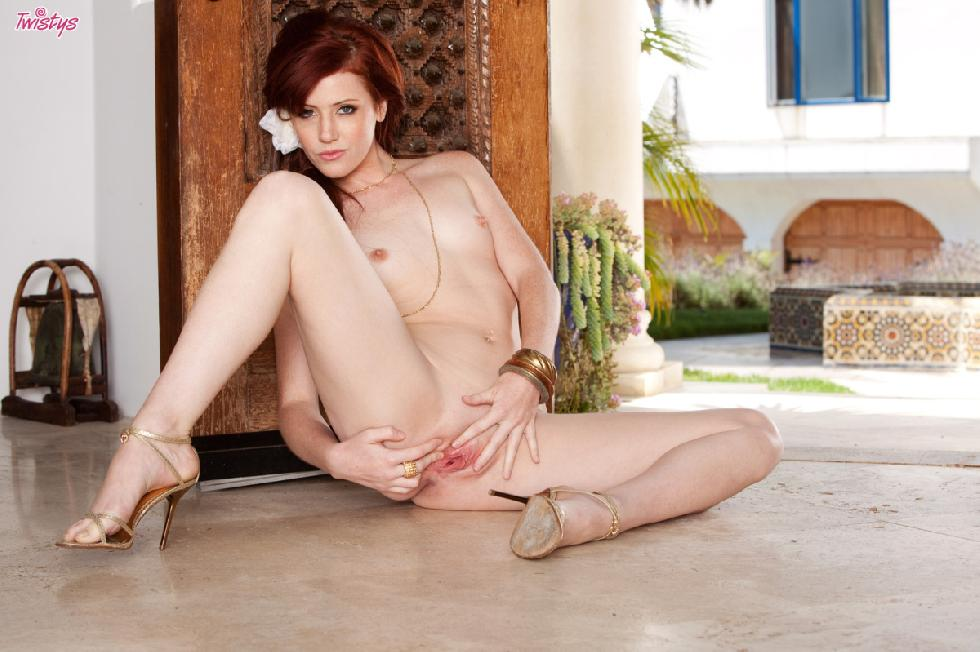 Red haired Elle Alexandra is showing you her butt - 12