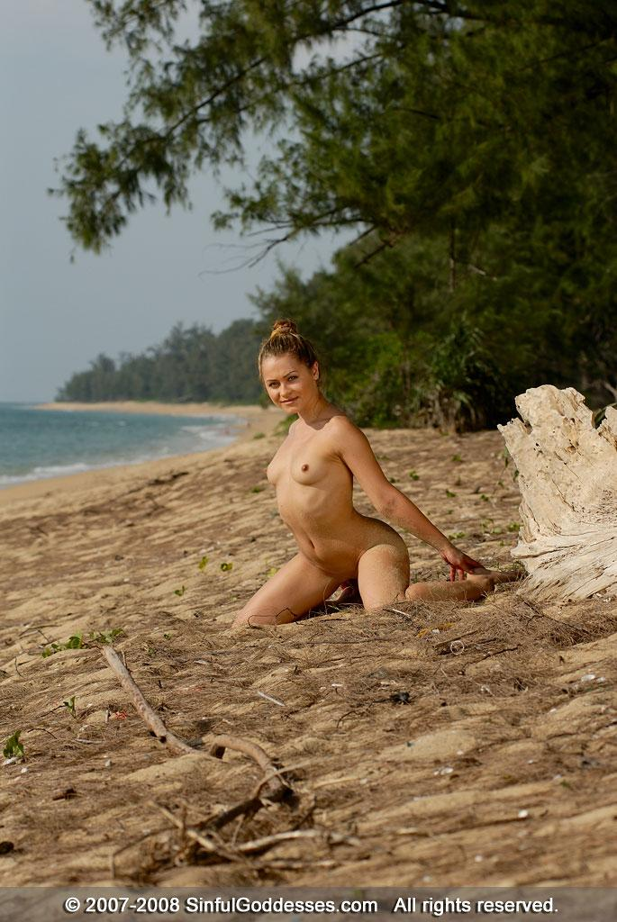 Wonderful naked girl on the beach - Jessica. Part 2 - 12
