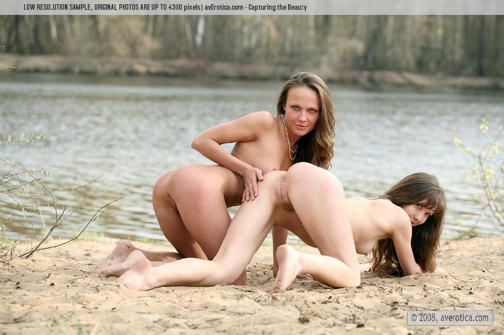 Two naked girls on the beach - Koty & Tusia - 17
