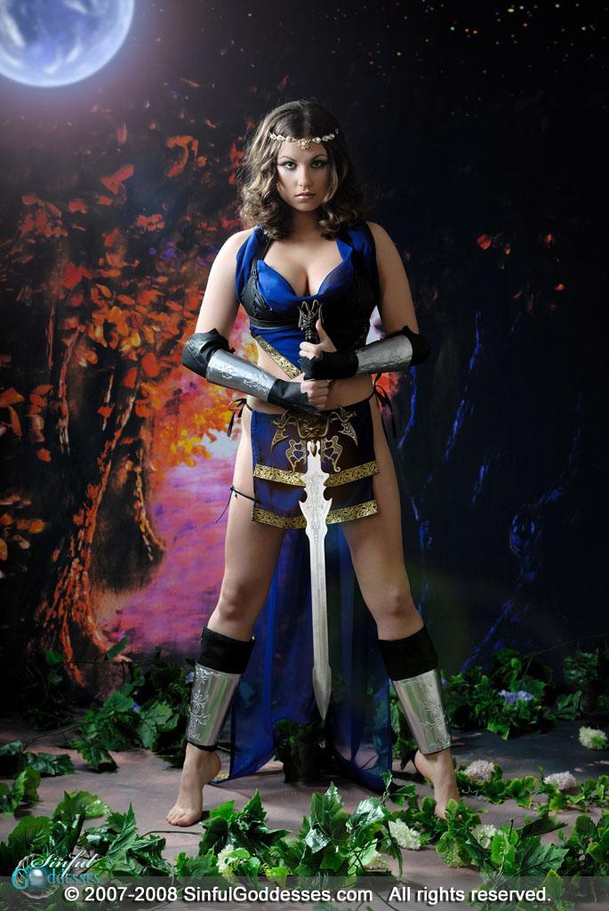 Beautiful warrior with big boobs - Mia - 2