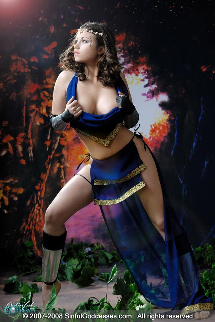 Beautiful warrior with big boobs - Mia - 3