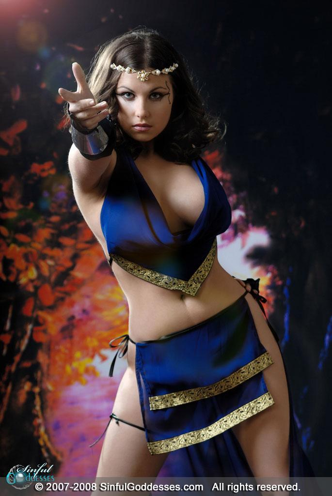 Beautiful warrior with big boobs - Mia - 5