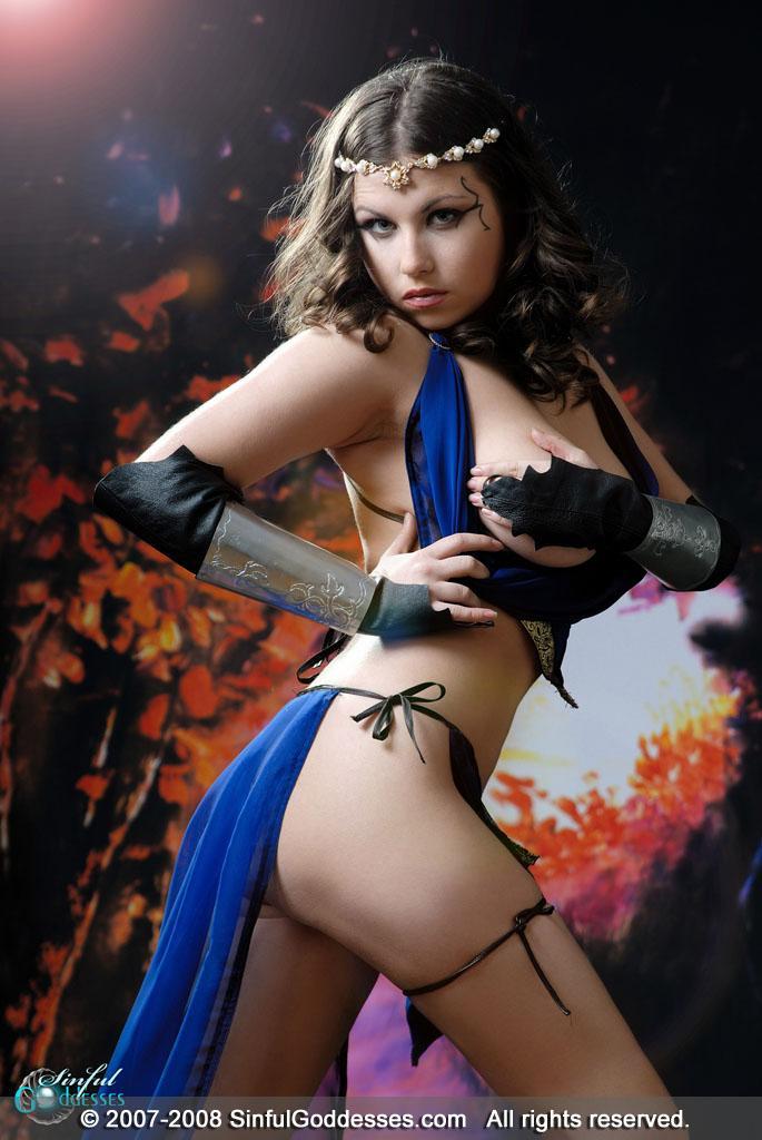 Beautiful warrior with big boobs - Mia - 6