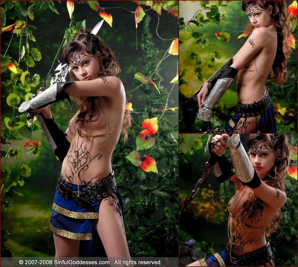 Young long-haired warrior - Jasmine - 117