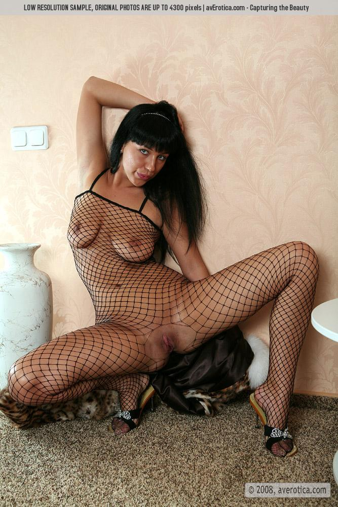Helen is tempting in sexy bodystocking - 1