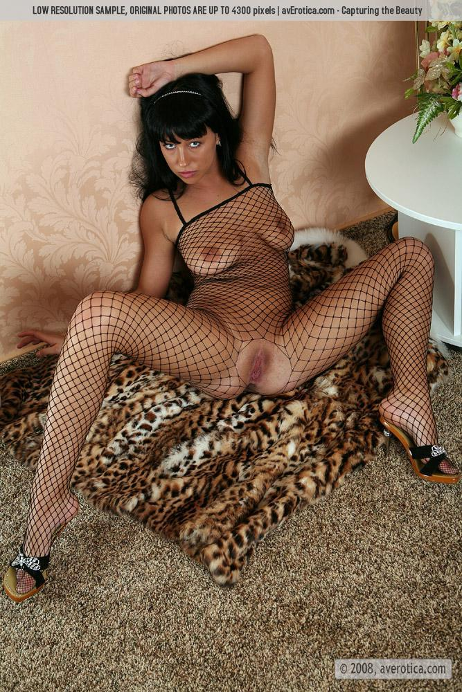 Helen is tempting in sexy bodystocking - 11