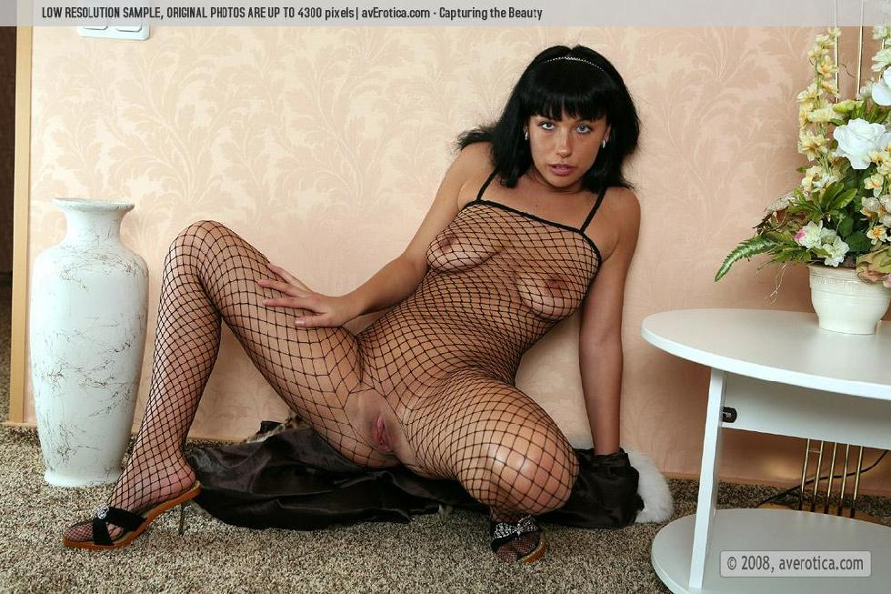 Helen is tempting in sexy bodystocking - 2