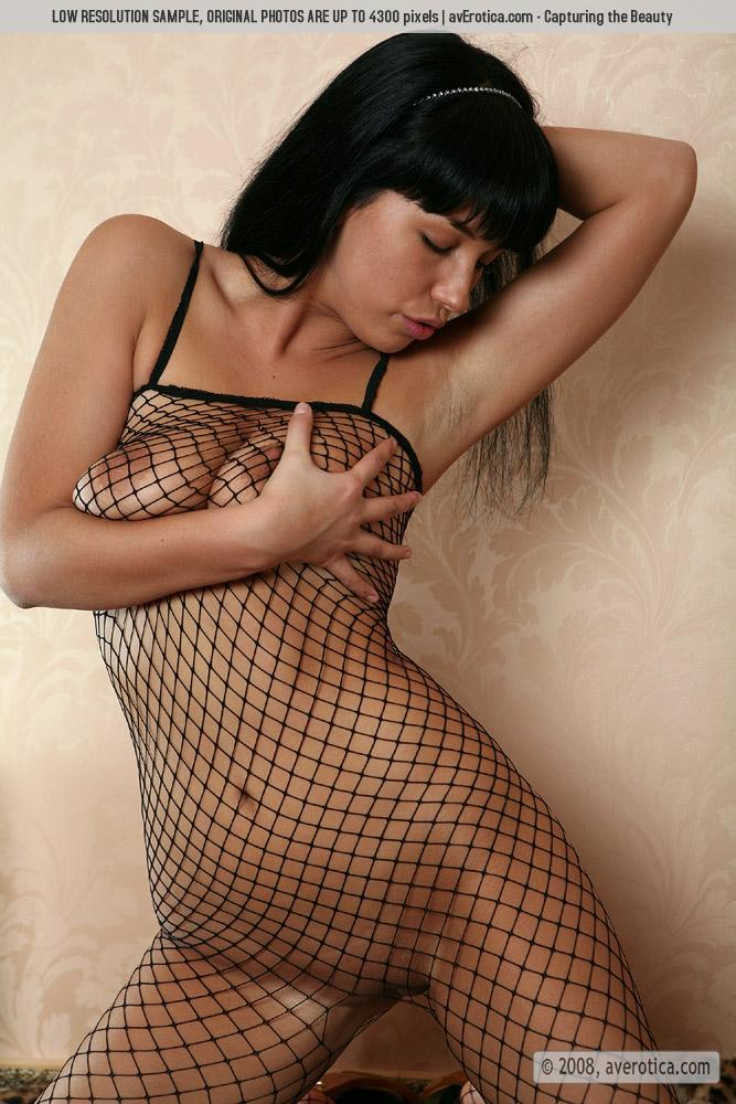 Helen is tempting in sexy bodystocking - 5