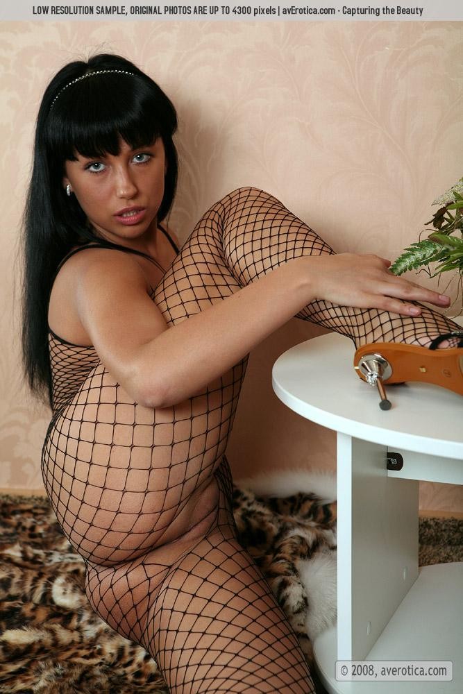 Helen is tempting in sexy bodystocking - 8