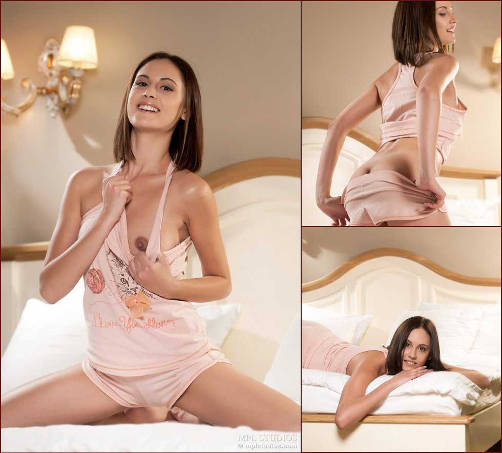 Pretty girl is showing wonderful body on the bed - Ila - 56