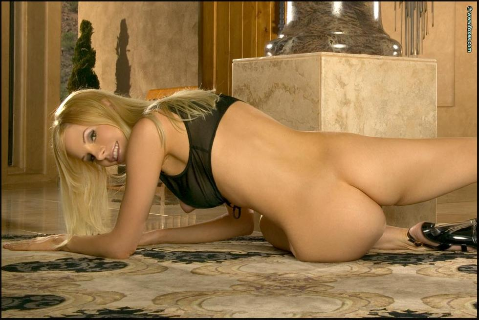 Blonde Aimee Addison is spreading her long legs  - 13