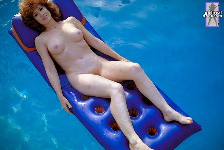 Evie is relaxing over the pool - 9