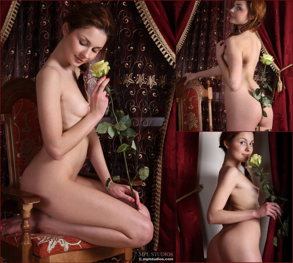 Sweet and young Emmanuelle likes roses - 36