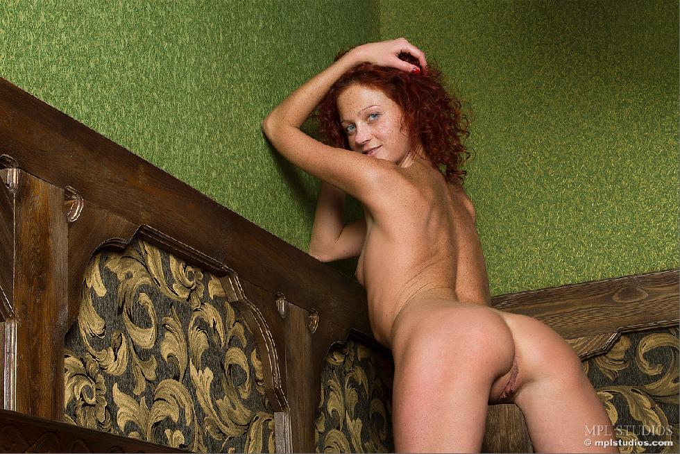 Red-headed Abby is presenting her meaty pussy - 11