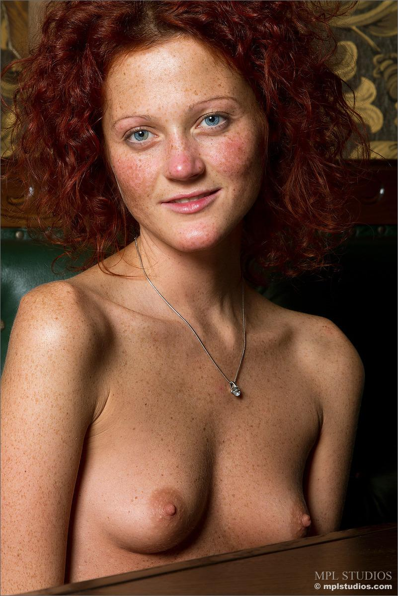 Red-headed Abby is presenting her meaty pussy - 12