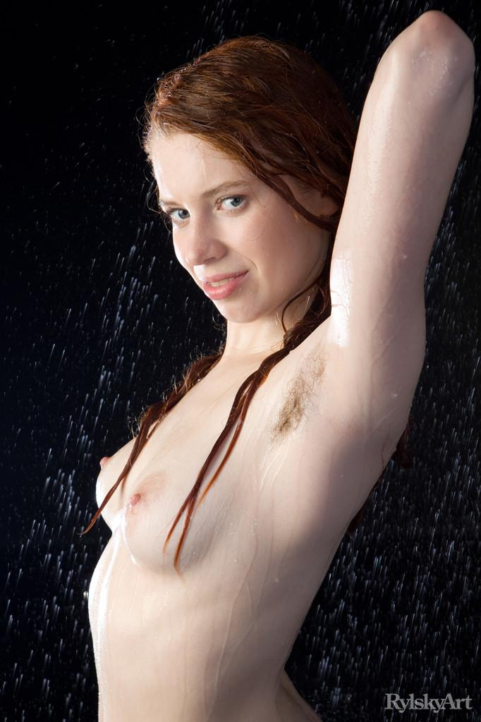 Marvelous redhead in wet photoshoot - Gillian - 11