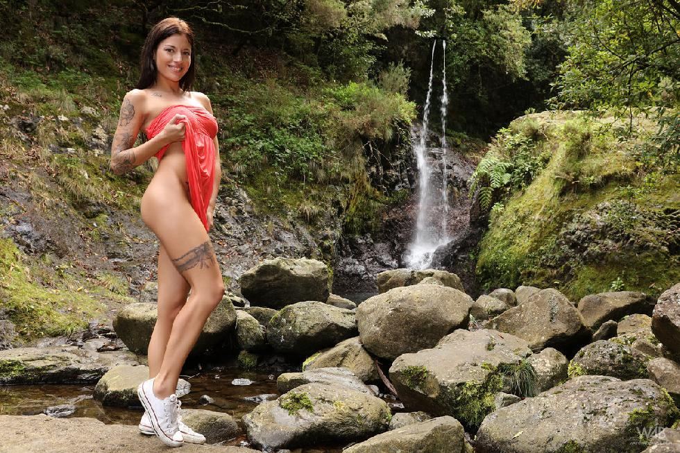 Girl with tattoo is posing in nature - Dellai - 6