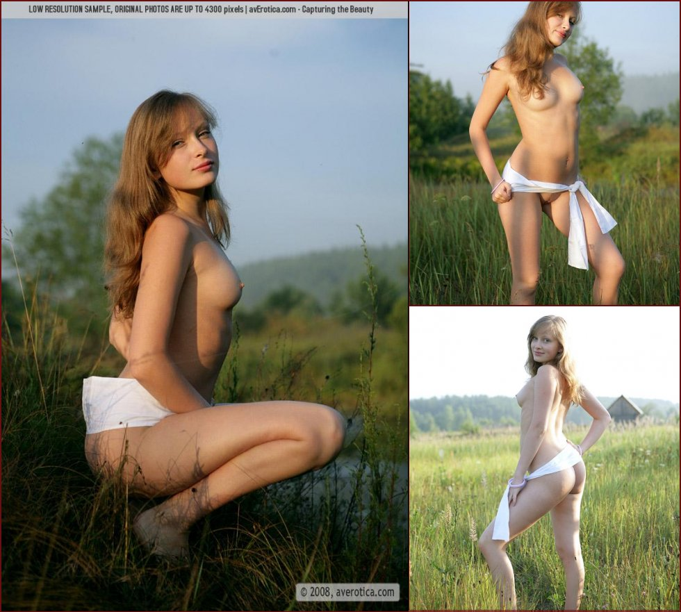 Cute girl is posing naked on the countryside - Nusia - 5