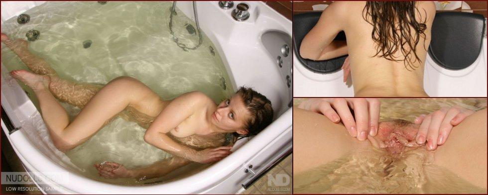 Deep masturbation in the bathtub - 50