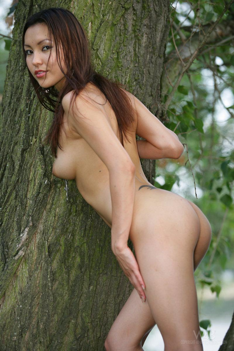 Naked Asian is posing in nature - Agnes - 10