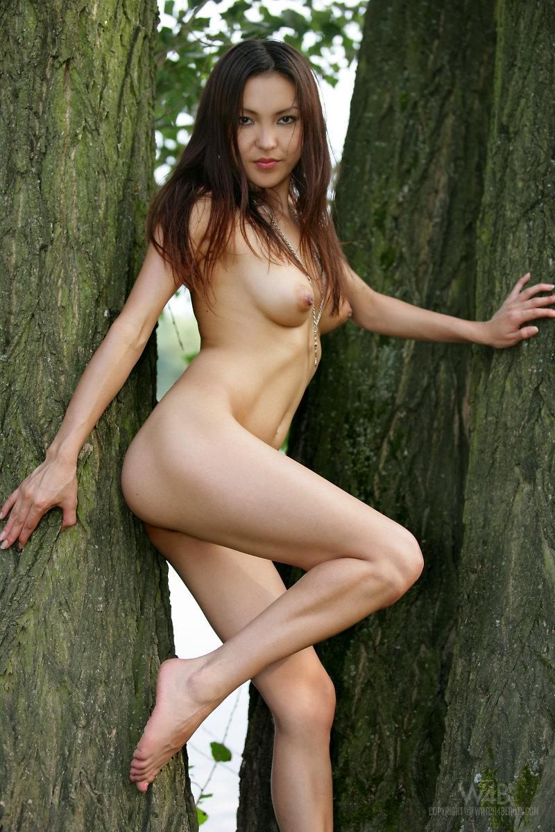 Naked Asian is posing in nature - Agnes - 12