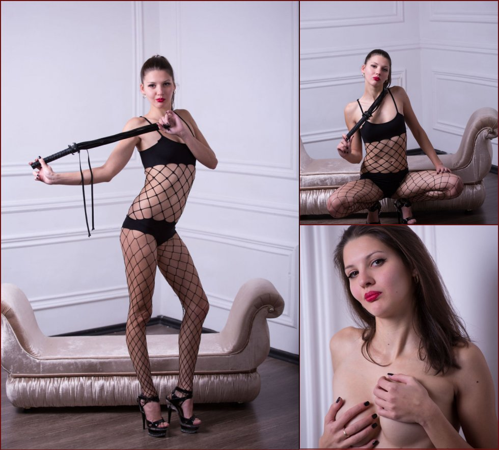 Young domina in sexy bodystocking - Abigail - 32