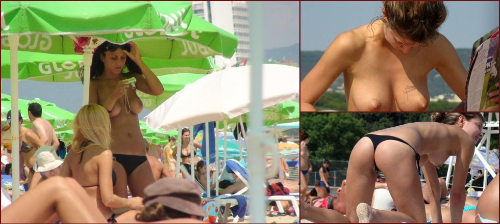 Topless and nude amateurs on the beach. Part 2 - 2