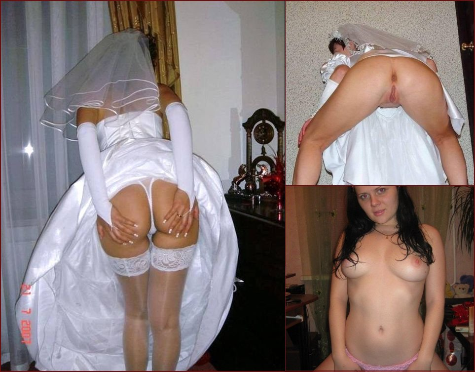 Bride shows her pussy - 1