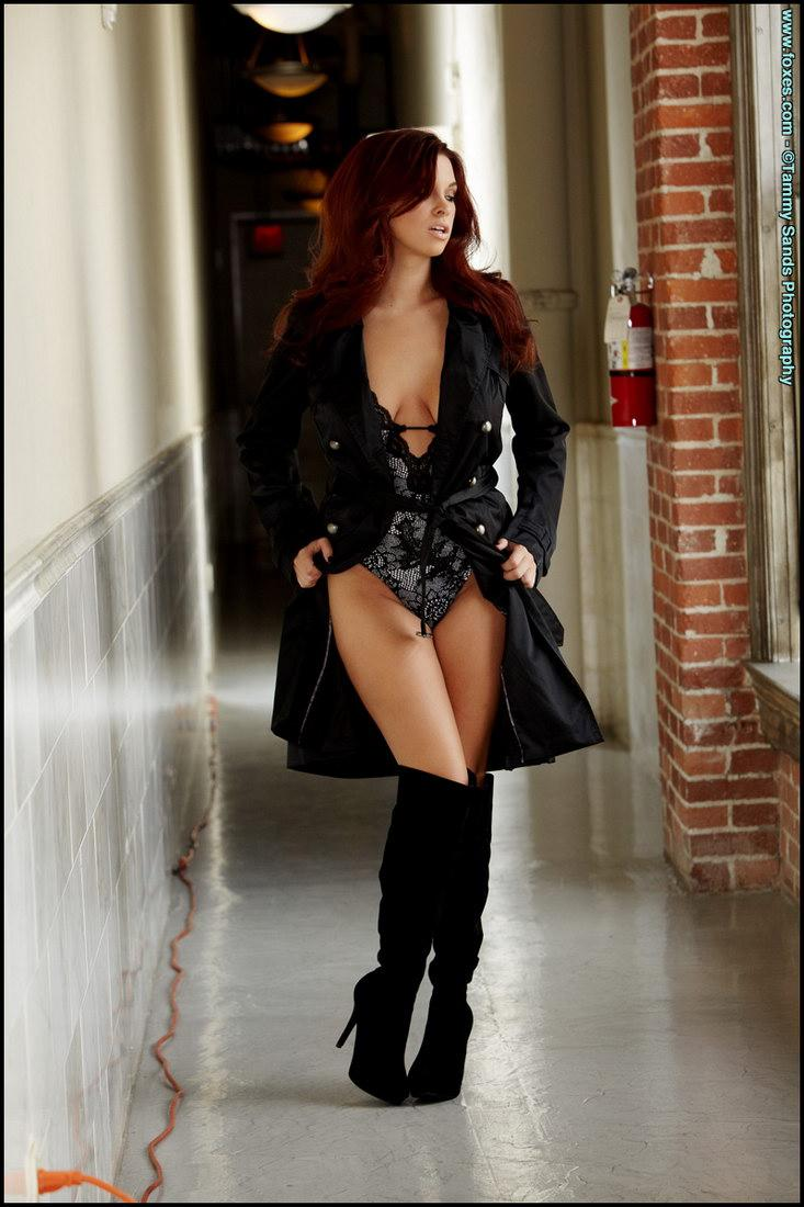 Amazing redhead is posing in black high boots - Sabrina Maree - 2