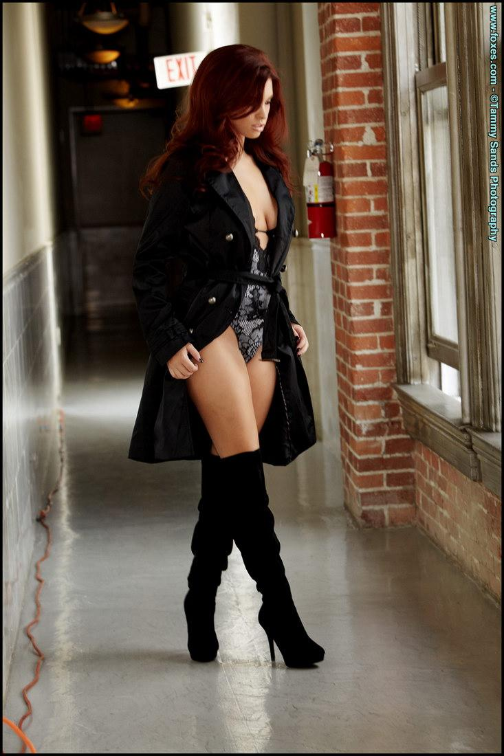 Amazing redhead is posing in black high boots - Sabrina Maree - 3