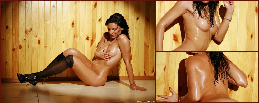 Sexy Katya shows her naked wet body - 56