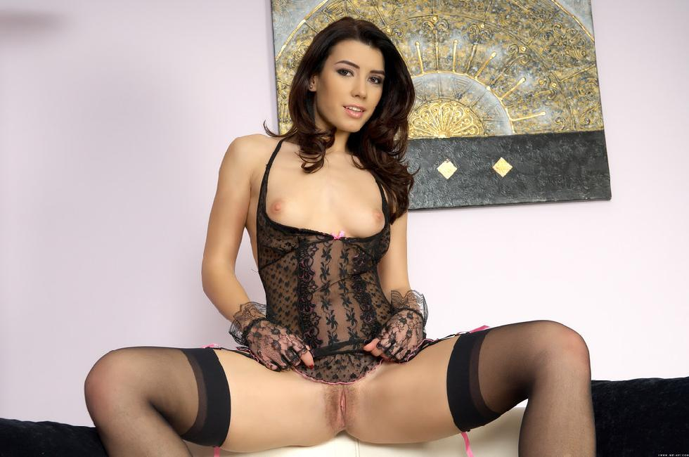 Stunning girl in hot black lingerie - Betty - 9