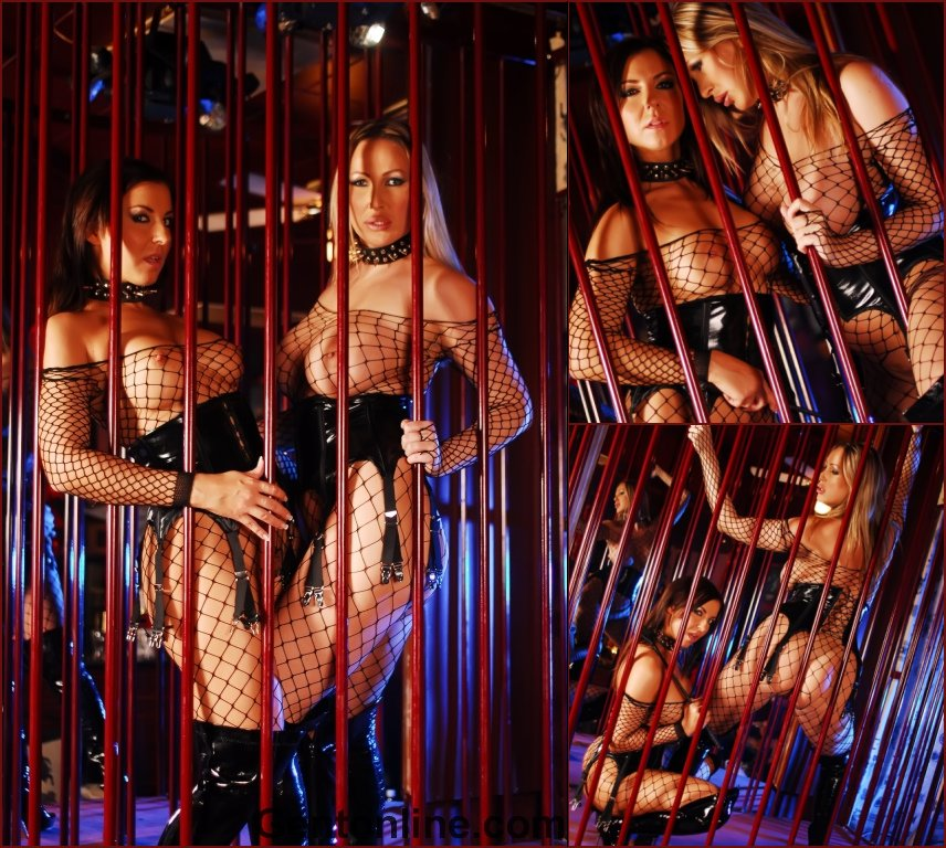 Two wild chicks in the cage - Mandy Bright & Maria Belucci - 24