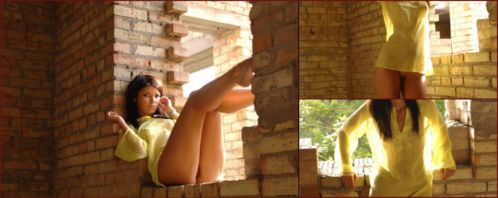 Beautiful Vanila is posing in ruins - 45
