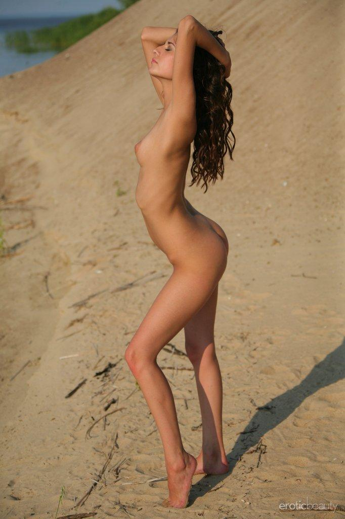Three young and naked girls on the beach - Irina, Olivia & Vika - 1