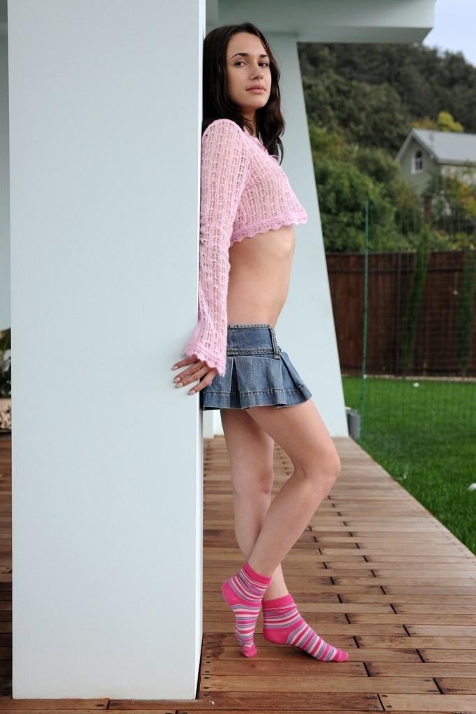 Beautiful teen is showing her slim body - Ilona - 1