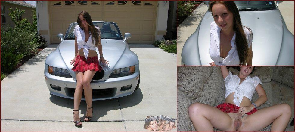 Schoolgirl in sexy red mini skirt - Zoe Rae - 45
