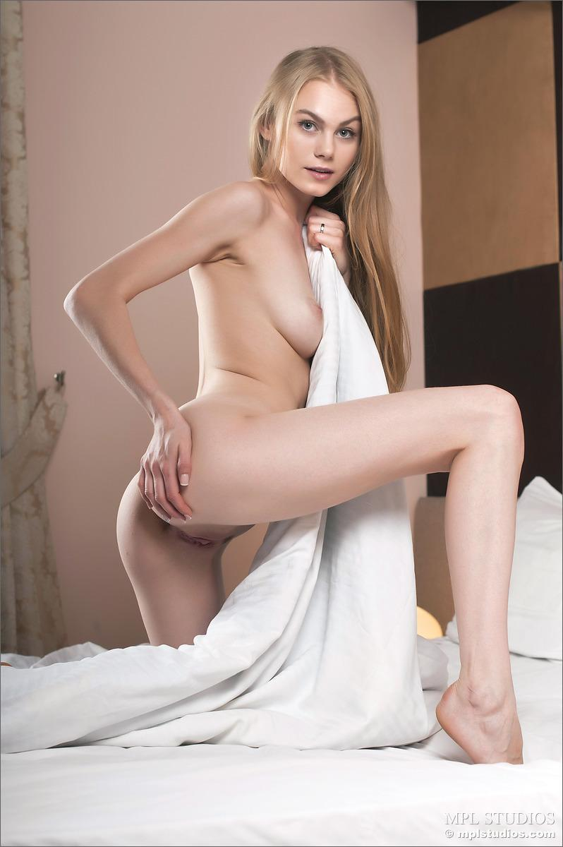 Tiny girl with long blonde hair - Erika - 10