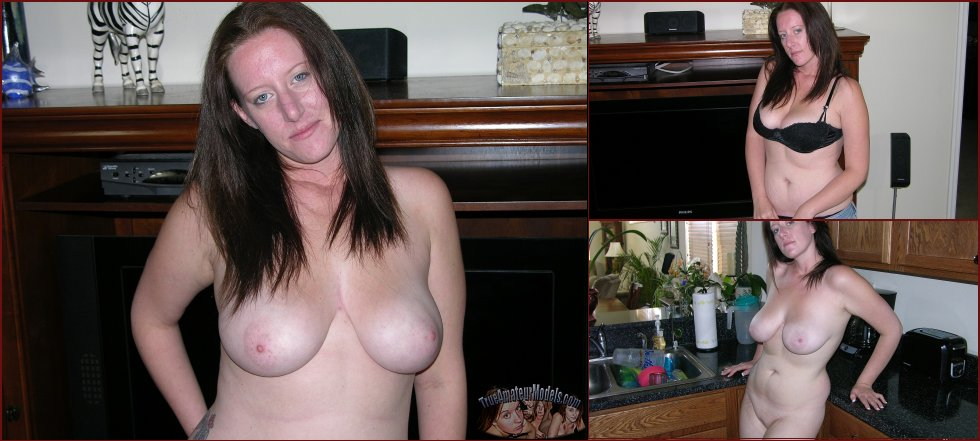 Busty MILF shows pink pussy - Megan - 29