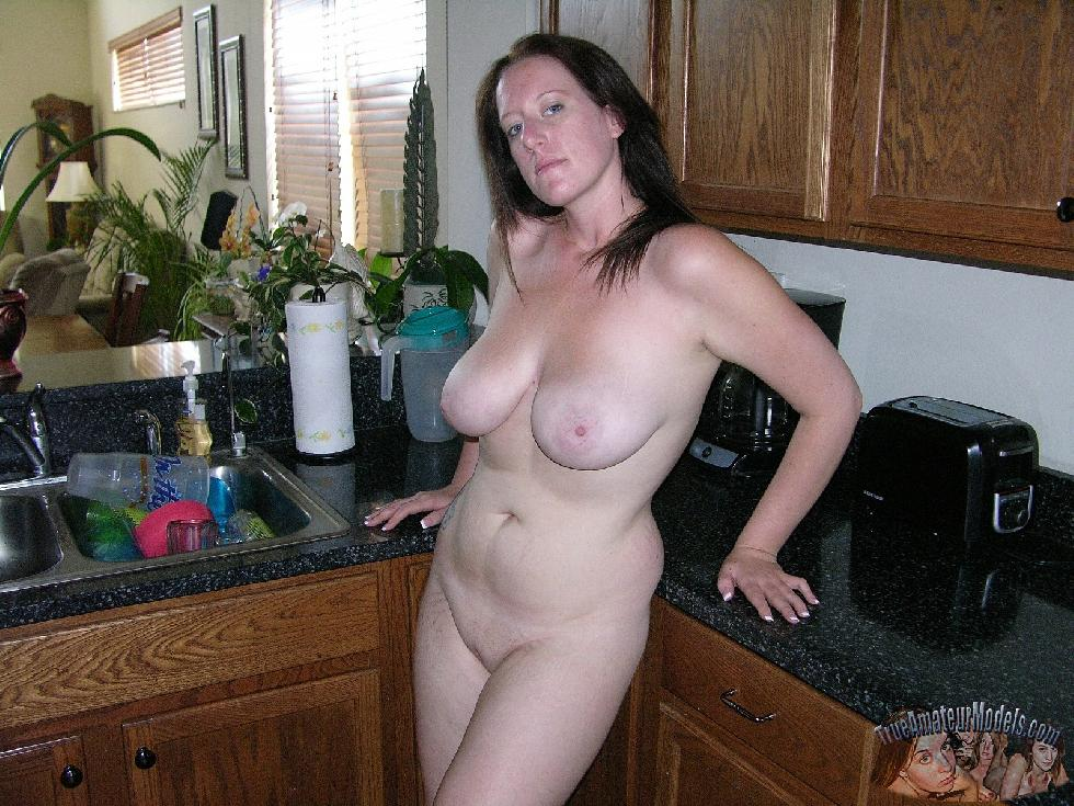 Busty MILF shows pink pussy - Megan - 7