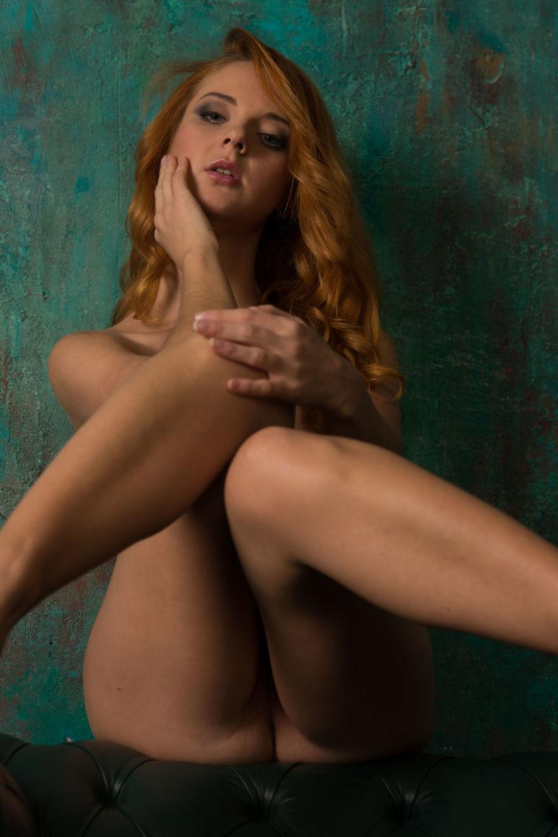 Beautiful redhead is posing on the armchair - Roberta Berti - 11