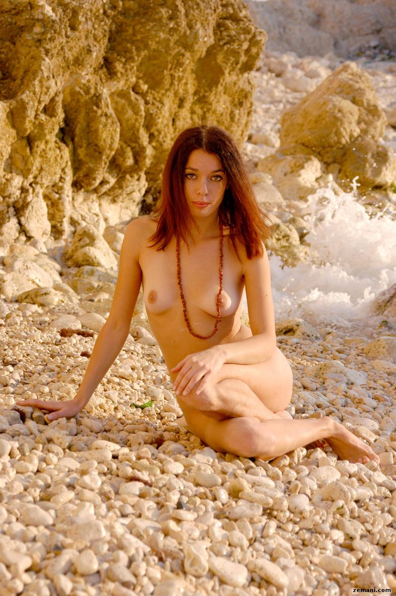 Young redhead on the rocky beach - Dillia - 11