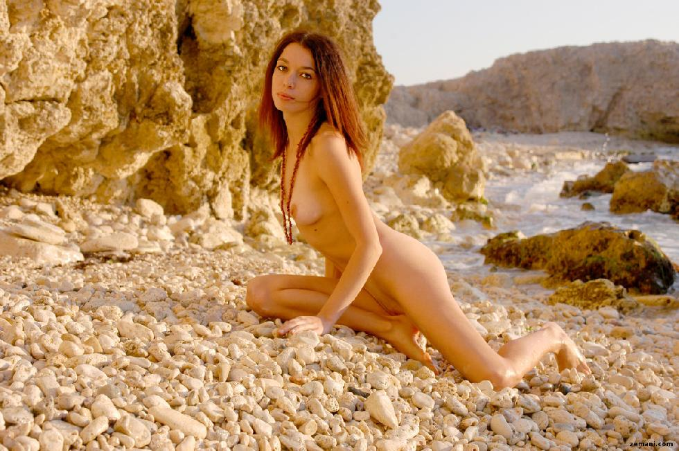 Young redhead on the rocky beach - Dillia - 12