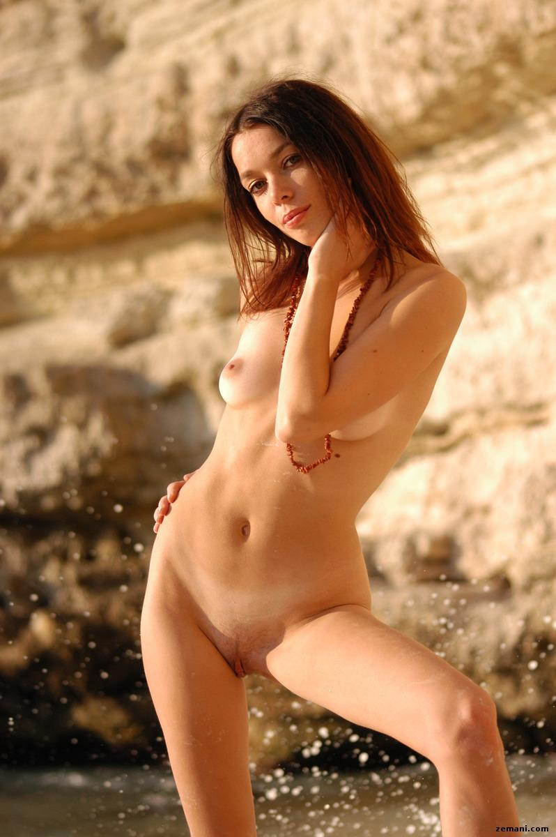 Young redhead on the rocky beach - Dillia - 8